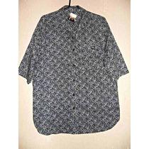 Camisa Unisex, Manga Curta, Floral - Tam Gg =120 Cm De Busto