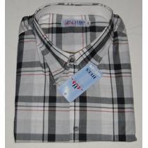 Camisas Xadrez Masculinas Manga Curta 100% Algodão