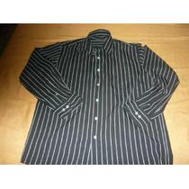 Camisa Manga Longa Preta Listrada Emporio Colombo