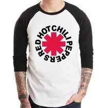 Camisa Red Hot Chili Peppers Raglan 3/4 Pronta Entrega