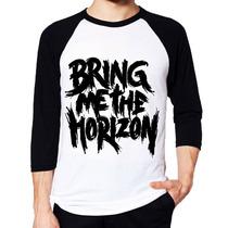 Camisa Bring Me The Horizon Raglan 3/4 Pronta Entrega