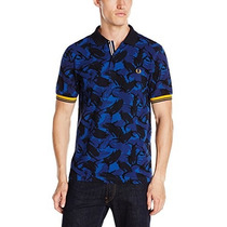 Frete Grátis Camisa Fred Perry Camouflage Tipped Polo Regal