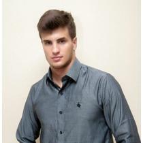 Camisa Maquineta Preto/branco Com Gorgurão