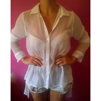 Camisa Transparente Hollister Original Feminina