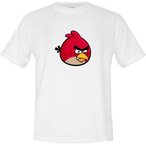 Camiseta-infatil- Angry Birds - So Branca