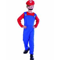 Fantasia Infantil Mario Bros - Pronta Entrega
