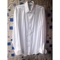 Camisa Social Masculina Otto Punho Duplo Abotoaduras Branco