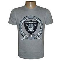 Camiseta Oakland Raiders Cinza