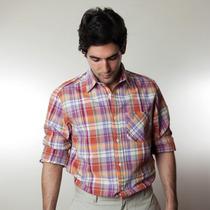 Camisa Linho Xadrez Green Grass