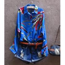 Camisa Chiffon Seda Musseline Blusa Feminina Pronta Entrega
