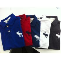 Kit 5 Camisa Camiseta Polo Abercrombie Masculina