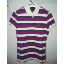 Camisa Polo Tommy Feminina 03 Cores Lilás,cinza E Bege Tm G