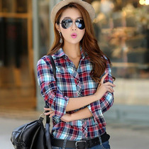 Blusa Casaco Camisa Xadrez Feminina Outono Inverno