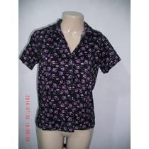 Linda Camisa Com Estampa Floral Tam: M