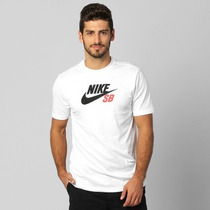 Camiseta Nike Sb Df Icon Logo White