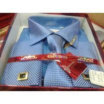 Camisa (importada Social) Masc,gravata,abotoadura,prendedor