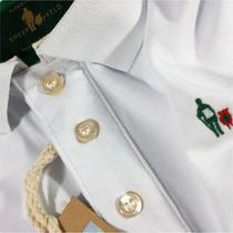 Camisa Camiseta Polo Branca Bordado Especial S&f Original