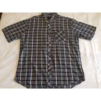 Camisa De Botão Quadriculada Xadrez Surf Billabong Tam. G