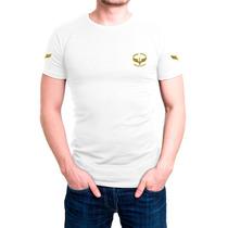 Camisa Camiseta Branca Bordada - Força Aérea Brasileira