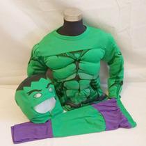 Fantasia Infantil O Incrível Hulk Com Músculo Pronta Entrega