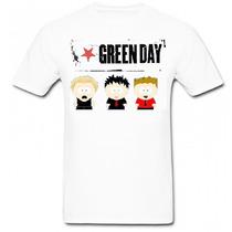 Camisa Green Day South Park - Camiseta Guns Roses Nirvana