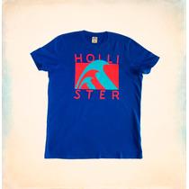 Camiseta Hollister Blue Wave