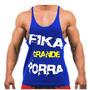 Camiseta Regata Cavada Musculação Fika Grande E Outros