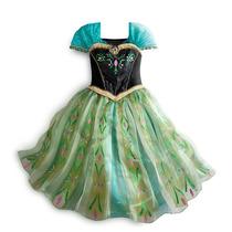 Vestido Anna Frozen Coroação - Pronta Entrega