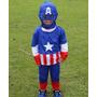 Fantasia Capitão América Infantil Avengers Festa Criança