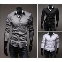 Camisa Social Slim Fit Importada Frete Grátis Vários Modelos