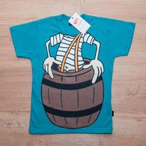 Camisa Infantil Camiseta Chaves, Monstros E Bob Esponja