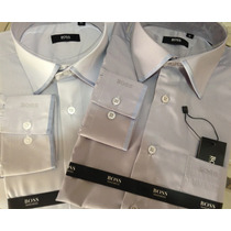 Camisa Social Hugo Boss 100% Algodão