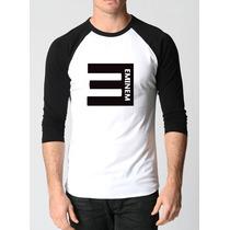 Camisa Eminem Raglan 3/4 Rap