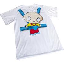 Camisa Sublimação Engraçada Branca Presente Stewie