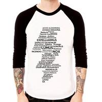 Camiseta Raglan 3/4 Harry Potter Feitiços