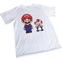 Camisa Sublimação Engraçada Branca Presente Mario Noia