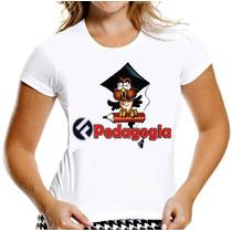 Camisa Pedagogia Camiseta Baby Look Feminina Universitaria