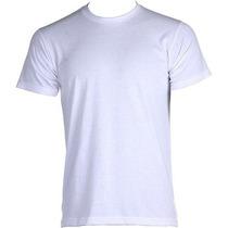 Camiseta Branca Malha Pv Lisa Anti Pilling.