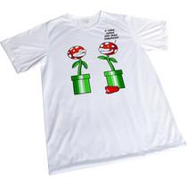 Camisa Sublimação Engraçada Branca Presente Mario Fail