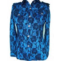 Maravilhosa Camisa Importada Em Tecido Rendado