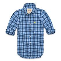 Camisa Social Hollister Quadriculada