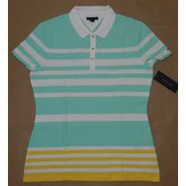 Camisa Gola Polo Feminina Tommy Hilfiger - Tamanho G
