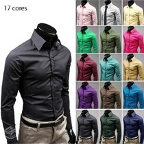 Camisa Social Slim Fit Importada ( Mais De 20 Modelos )