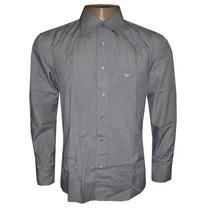 Camisa Social Armani Chumbo Ga63 - Frete Grátis