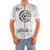 Camisa Capitão América Guerra Civil, Dryfit