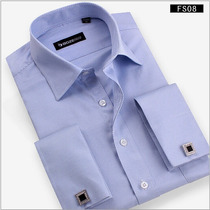 Camisa Punho Duplo - Frete Grátis - Abotoadura Grátis