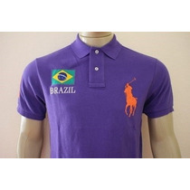 Camisa Gola Polo Custom Fit Do Brasil Polo Ralph Lauren