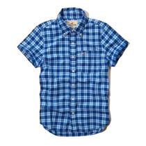 Camisa Social Manga Curta Quadriculada Hollister Tamanho G