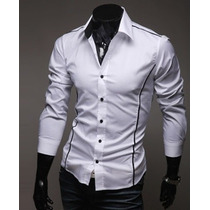 Camisa Social Slim Masculina Lançamento 2015