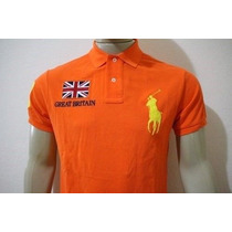 Camisa Gola Polo Custom Fit Great Britain Polo Ralph Lauren